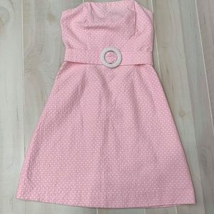 Lilly Pulitzer Dresses - {0} Lilly Pulitzer Pink and White Polka Dot Dress